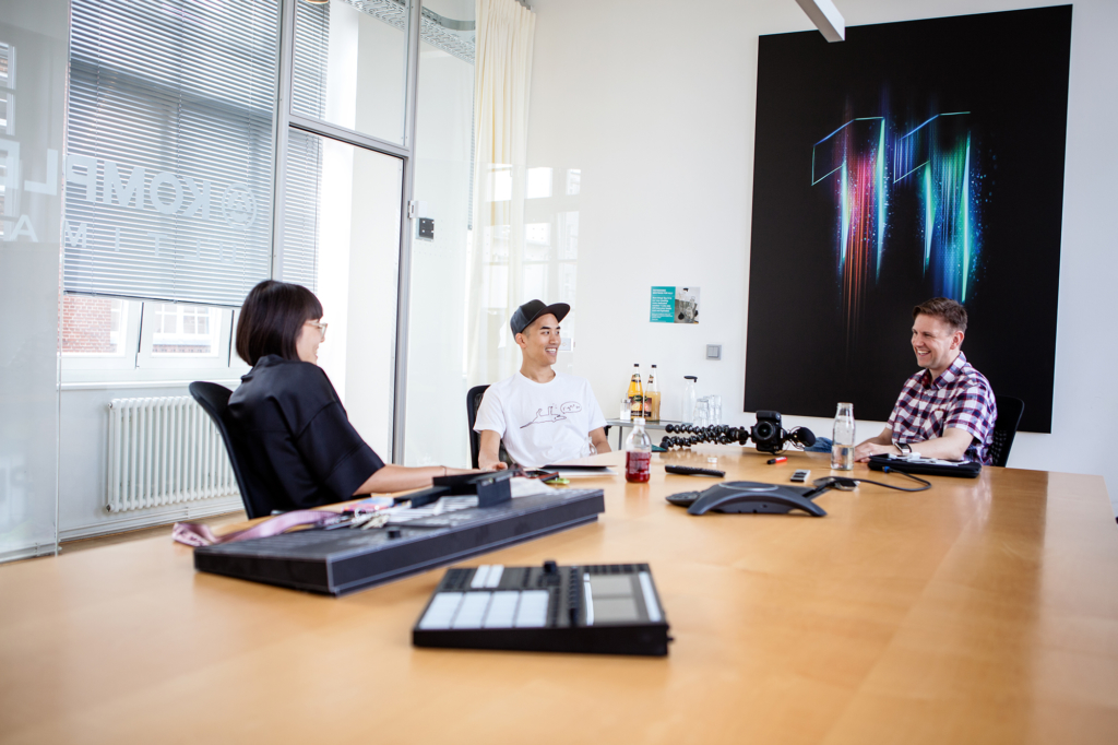 Andrew Huang at Native Instruments headquarters by Yvonne Hartmann - editorial photography