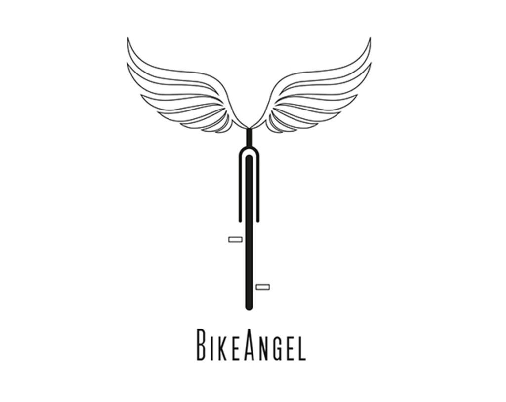 Logo design for bike repair service Bike Angel by Yvonne Hartmann - corporate design