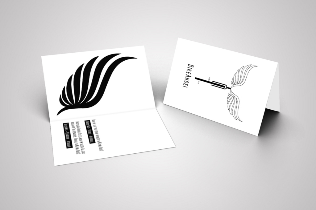 Business card design for bike repair service Bike Angel by Yvonne Hartmann - corporate design