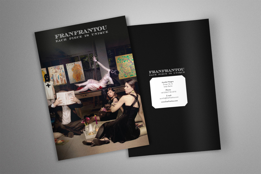 Lookbook layout for jewelry label Franfrantou by Yvonne Hartmann - editorial design