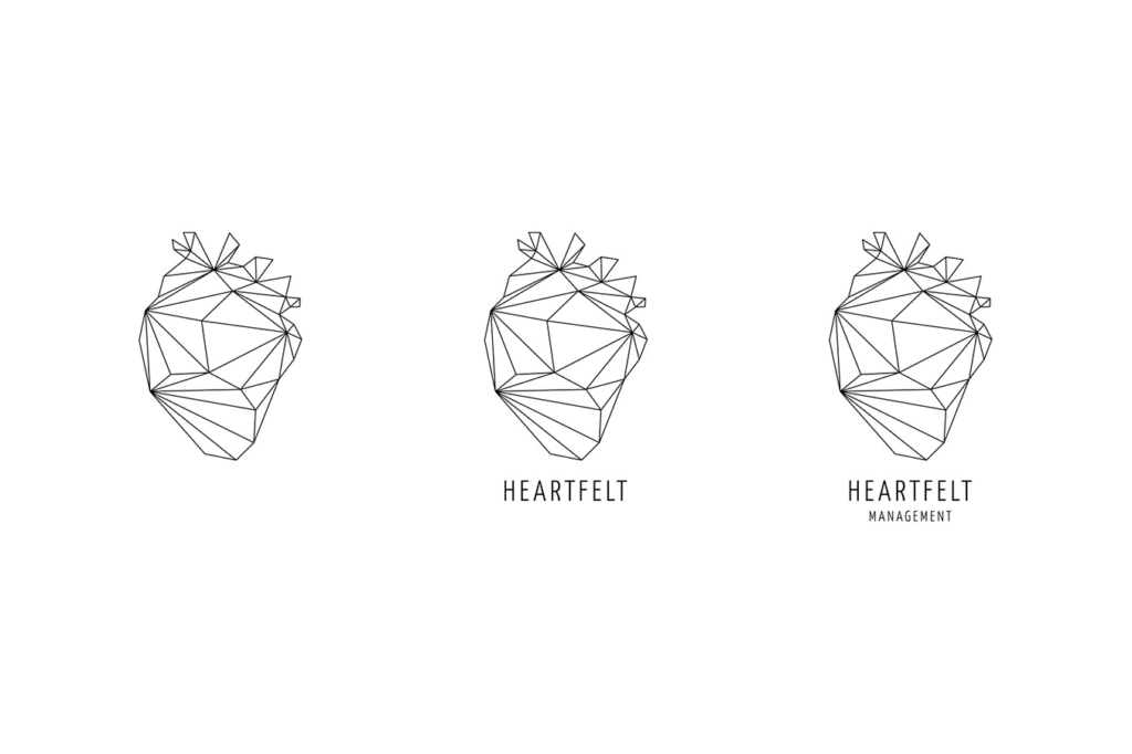 Logo design for artist management agency Heartfelt Management by Yvonne Hartmann - corporate design