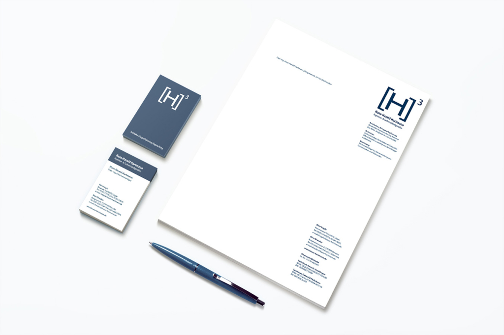Corporate design for architect Hans-Harald Hartmann by Yvonne Hartmann