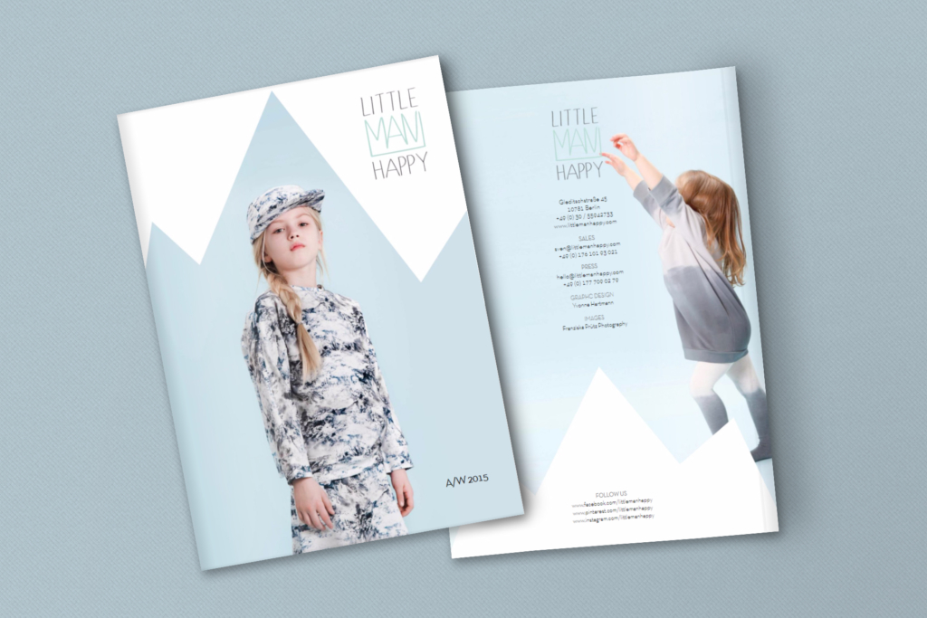 Lookbook layout for fashion label Little Man Happy by Yvonne Hartmann - editorial design