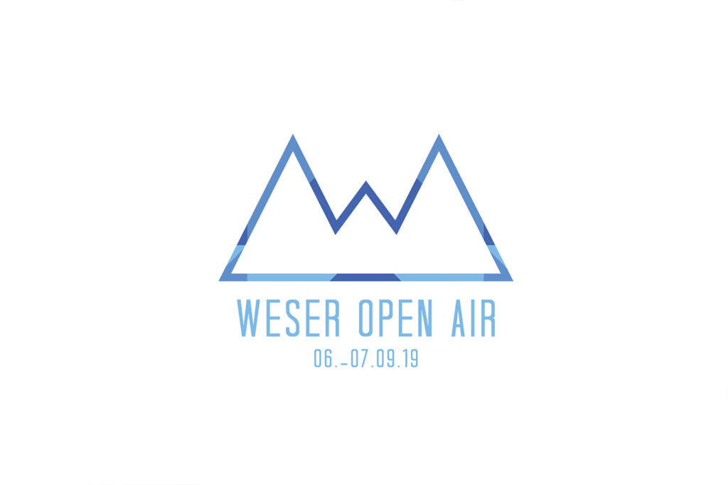 Logo design for Weser Open Air festival by Yvonne Hartmann