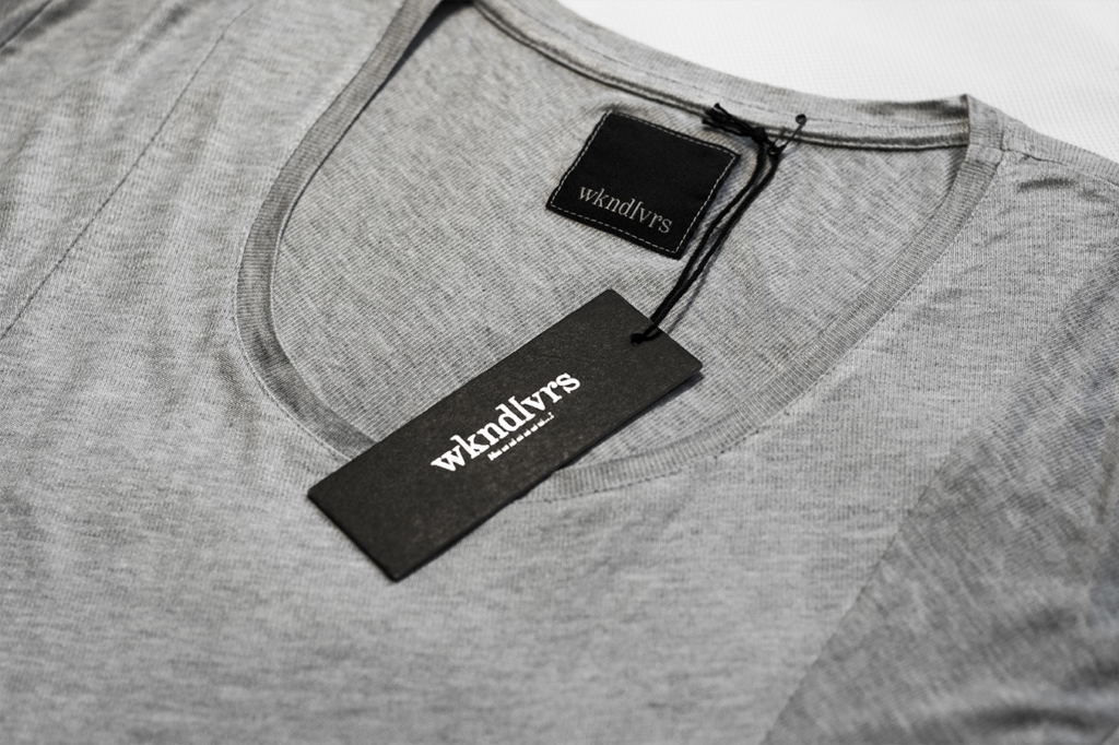 Hangtag design for fashion label wkndlvrs by Yvonne Hartmann - corporate design