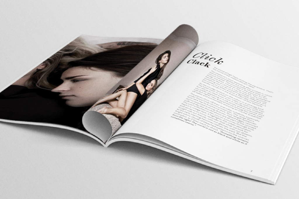 Lookbook layout for fashion label wkndlvrs by Yvonne Hartmann - editorial design