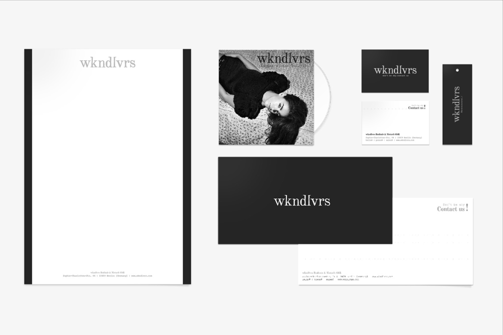 Corporate design for fashion label wkndlvrs by Yvonne Hartmann