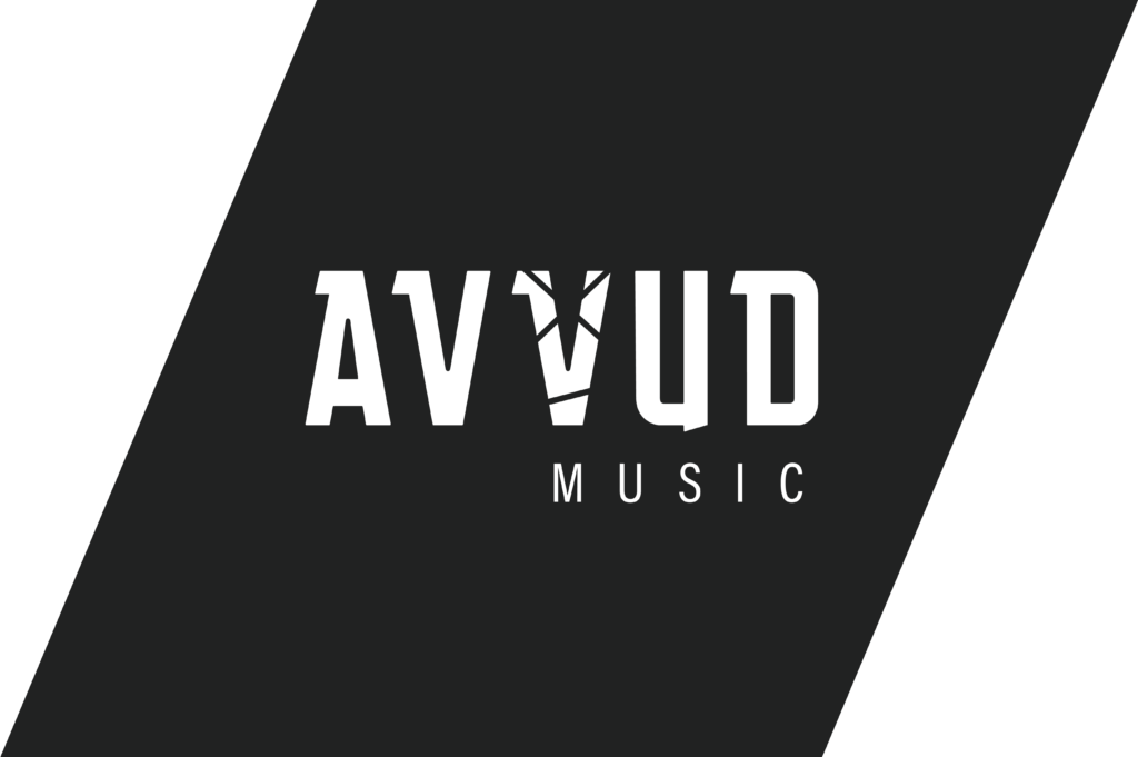 Logo design for techno label AVVUD Music by Yvonne Hartmann