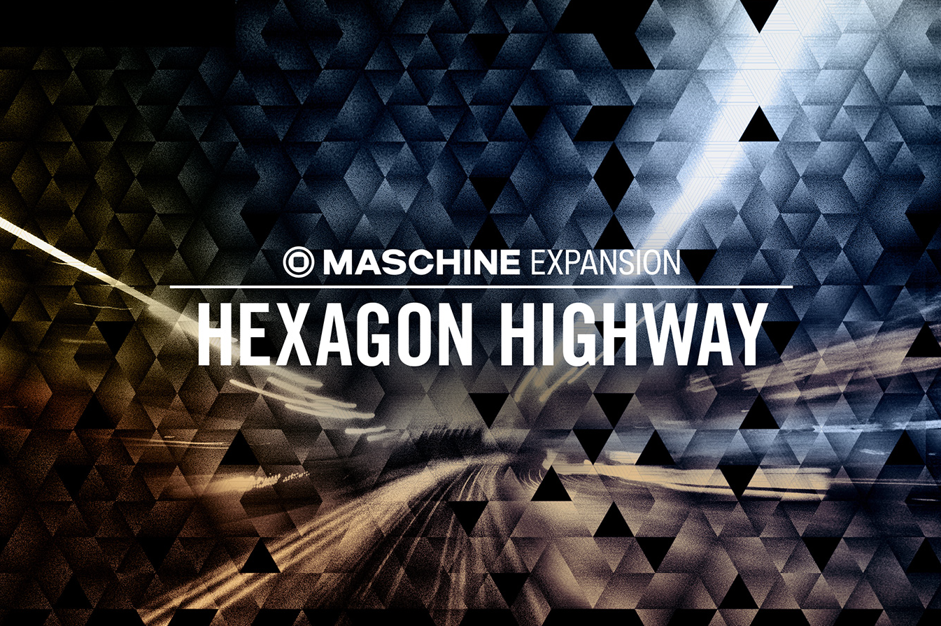 Artwork design for a Native Instruments' Hexagon Highway by Yvonne Hartmann - product artwork